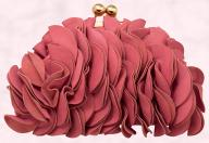 River Island Coral Petal Clutch Bag.