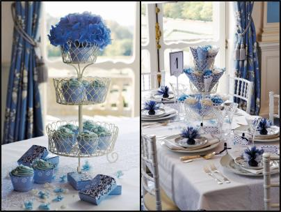 Confetti UK Blue Colour Table Schemes Themed Weddings