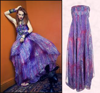 A|wear - Eclectic Paradise - Purple Printed Maxi Dress �68/�60.