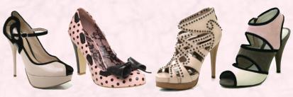 SPRING -  SUMMER 2010 NEARLY NUDE Faith Footwear CANDICE - �55.00 / �70.00 NEARLY NUDE bar beige court dolly faith neutral nude pale peeptoe Perspex shoe suede  Centre Left - Office Betsy Bow �60 Office Office Spring Summer 2010 Ladies Collection. Centre Right - Stud shoe SPRING / SUMMER 2010 NEARLY NUDE Faith Footwear CALISTAT - �125.00/�155 Faith Footwear DEARY - �70/ �90.