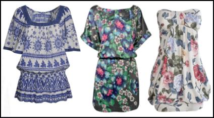 Left - Evans - Aztel Printed Top- Available in Plus Sizes £27/€42 ...