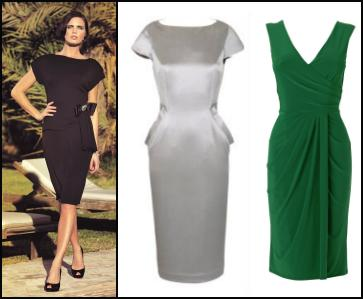 Alexon Little Black Dress, Littlewoods.com Trinny & Susannah �75.00 Vintage Inspired Metallic Pencil Dress, Phase Eight Green V Neck Draped Dress.