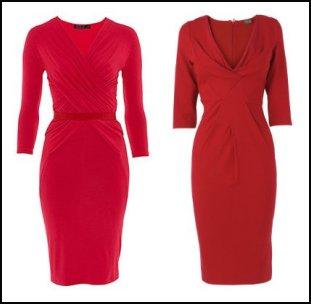 Donna Karan Three Quarter Sleeve V Neck Cross Draped Red Dress �1,055. Phase Eight Red Jersey Dress.
