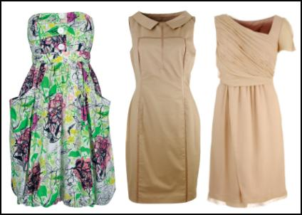 Green Dress by Monsoon. House of Fraser Beige Small Collar Dress and Chiffon One Sleeve Dress.