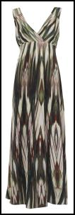 Womenswear Striped Tribal Print Silk Maxi Dress �79 - Marks & Spencer Clothing 2010.