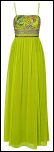 Monsoon Spring Summer 2010 - Lime Annabelle Maxi Dress £160/€250 Eire.