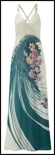 Wallis Watercolours Roses Maxi Dress.