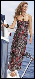 Halterneck Animal Print Maxi Dress, From �65 - Fifty Plus Spring/Summer 2010 Womenswear.