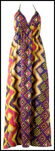 Internacionale - Orange/Pink/Purple/Yellow Magic Print Maxi Dress £16.99 SS10.
