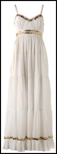 Internacionale White and Gold Coin Maxi Dress £20.
