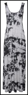Dorothy Perkins High Summer 2010 - Utility Trend Tie Dye Hippy Holiday Monochrome Cotton Maxi Dress £28/€45.