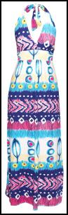 Halterneck Tribal Print maxi Dress �25 Boohoo.com - SS 10 Dresses.
