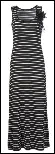 Black Stripe Corsage Maxi Dress 52R478WB9 �25 Oli Clothing.