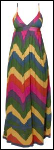 Zig Zag Multicolour Maxi Dress £20 boohoo.com S/S 10 Dresses.