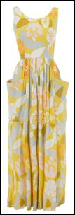 Original vintage 1970s jumpsuit maxi dress from Beyond Retro.