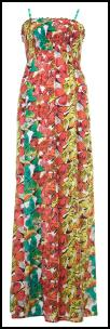 Internacionale Butterfly Maxi Multi-Colour Dress With Shirring - �16.99.