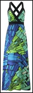 Blues/Greens FEVER Tiffany Maxi Dress �69.99. Fever Designs SS10.