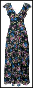 Near Right - Monsoon Florence Floral Rose Print Maxi Dress.