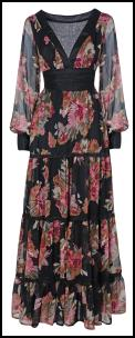Right - Evans Tiered Floral Print Maxi Dress.