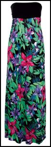 F&F Tropical Print Maxi Bandeau Dress �22, Tesco