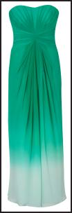 Turquoise Evening Maxi Prom Occasion Dress by Coast At Debenhams SS2010.