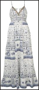 Blue Grey White Mix Folk Print Maxi Dress �34.99 River Island Summer.