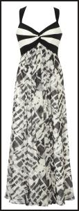 Black/White Maxi Bra Dress - Coast at Debenhams