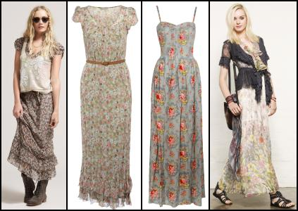 River Island Festival Prairie Look. BHS Ditsy Floral Maxi Dress �45 - BHS SS10 Womenswear ASOS Floral Rose Print Maxi Dress. Warehouse Traveller Mixed Floral Jungle Print Maxi Dress �85/�110.