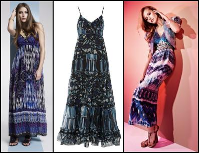 BHS - Aztec Blue Festival Printed Maxi Dress �32. BHS SS10 Womenswear. Blue Abstract Ikat Print Maxi Dresses. Be Beau Abstract Tiered Maxi Dress - �25 Matalan. Dorothy Perkins - Summer Maxi and Jacket. SS10.
