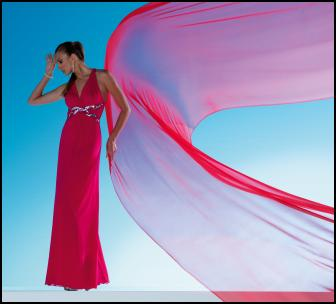 Model View of Halter Wave Trim Mesh Maxi Dress �48 - Jane Norman High Summer 2010.