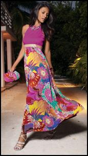 This pretty long magenta maxi dress costs �65 from NEXT DIRECTORY.