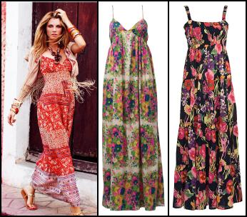 Paisley print border jersey maxi dress