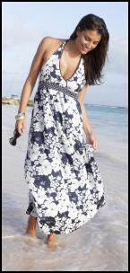 Fifty Plus Washable Cotton Beach Maxi Dress, from �28,