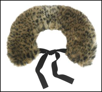 Animal Print Fur Tippet for Winter 2011/12