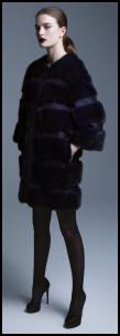 Collarless Fur Cocoon Coat