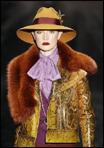 Snakeskin Jacket & Fur Collar Gucci AW11.
