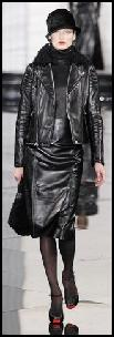 Ralph Lauren Catwalk Black Leather Looks.