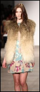 Shaded Mongolian Fur Shaggy Gilet.
