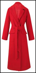 Maxi Wrap Red Coat.