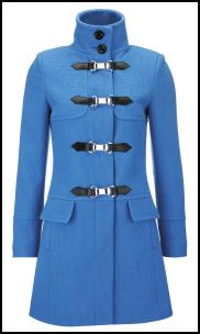 Blue Toggle Coat.