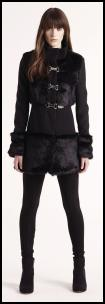 Balck Military Short Mini Coat.