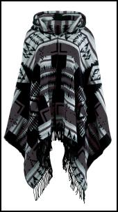 Global Mix Aztec Wrap Poncho.