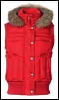 Red Padded Gilet.