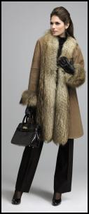 Fur Trimmed Camel Coat.