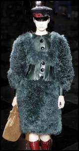 Curly Fur Sleeve Coat From Louis Vuitton AW11.
