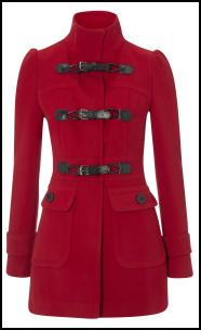 Primark  Red Military Duffle Toggle Coat
