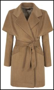 Camel Highwayman Cape Coat.