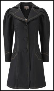 Fever Boleyn Coat Black.