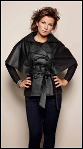 Coleen Cape Leather Coat