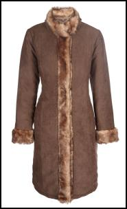 Faux Suede Shearling Coat.